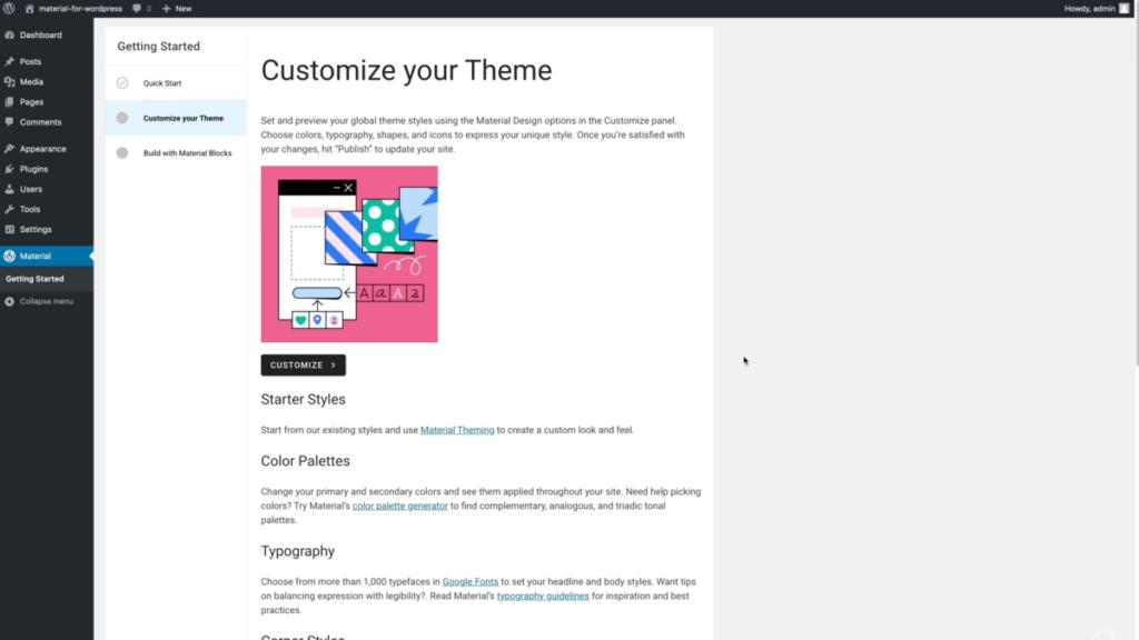 Google Material Design WordPress a