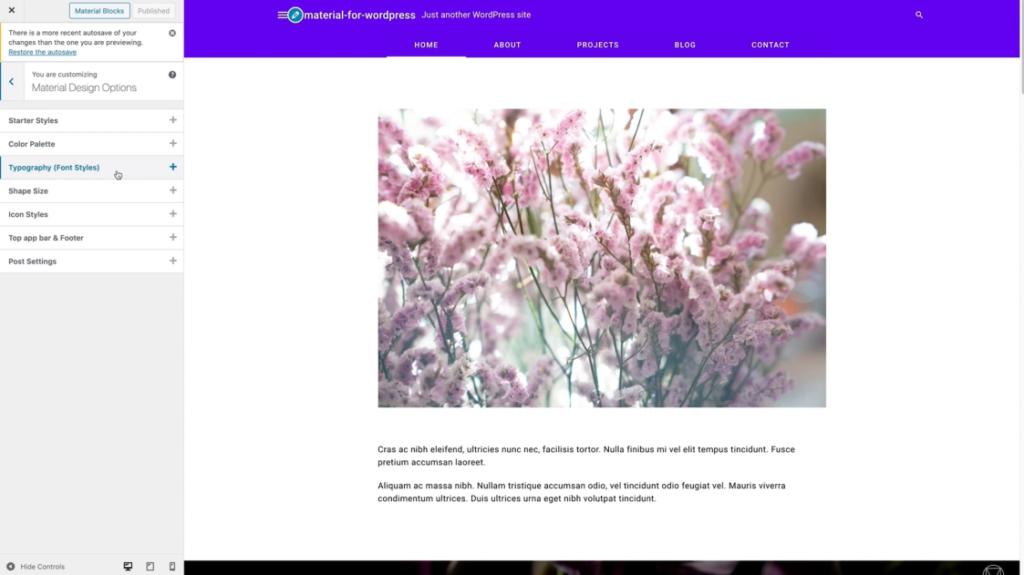 Google Material Design WordPress c