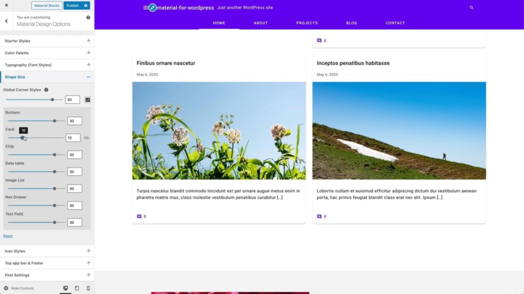 Google Material Design WordPress f