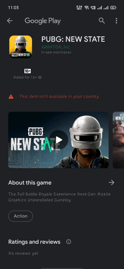 Google playlisted pubg new state