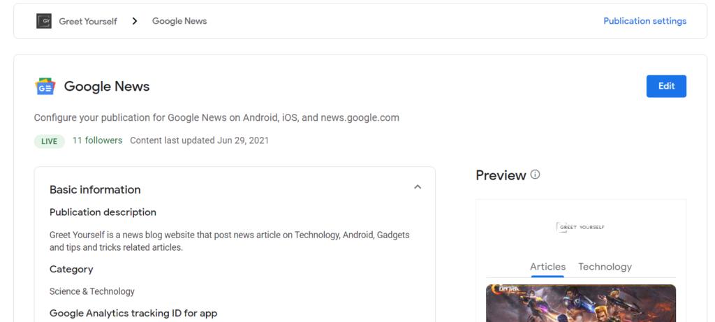 Greet Yourself On Google News