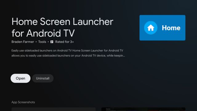 Home Screen Launcher For Android TV